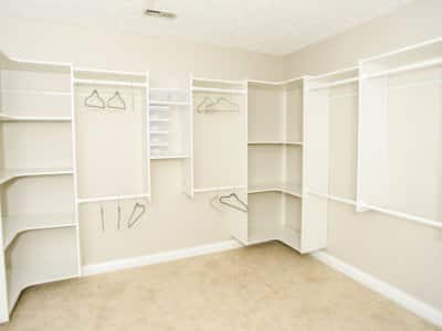 closet with neutral paint colors