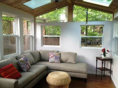 remodeled sunroom addition