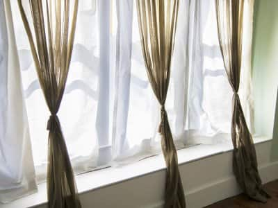 curtains on window
