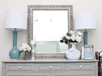 dresser with balanced decor