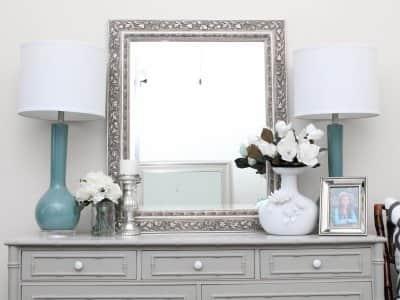 dresser with balanced decor