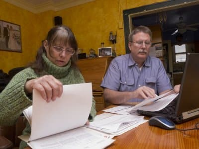 A couple searches through genealogy records