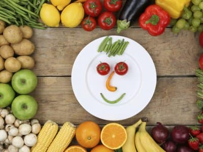 healthy food, including fruits and vegetables