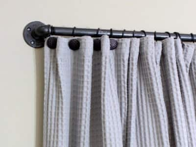 DIY industrial pipe curtain rod