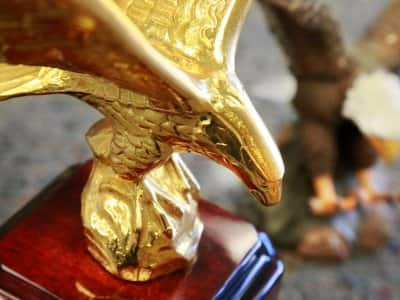 trophy, gold eagle, award