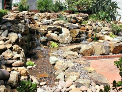 backyard water fountain