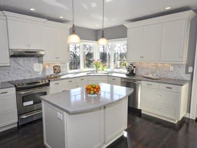 a sparkling clean kitchen