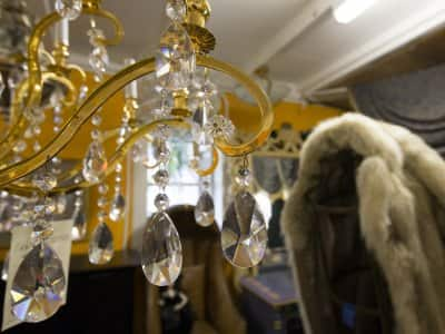 Fur coat and crystal chandelier antiques for appraisal