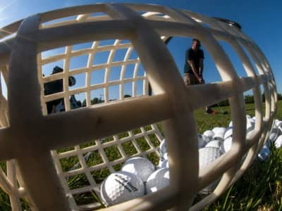 Golf balls and golfer