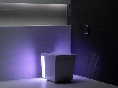 Kohler Numi toilet with purple ambient light