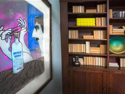Kurt Vonnegut artwork at 2017 Decorators' Show House