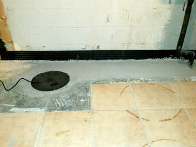 Basement floor under construction