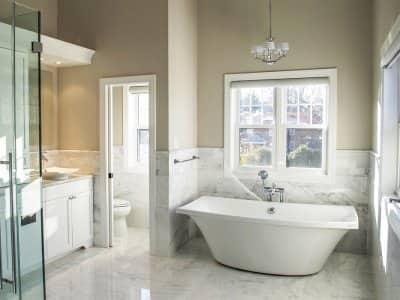 new bathroom remodel with soaking tub