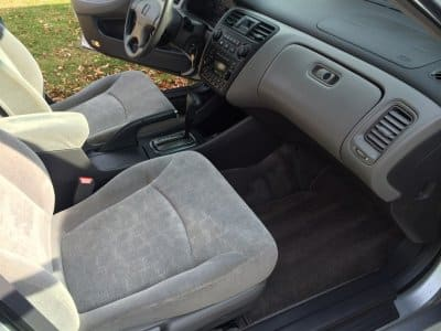 A car that has had an interior detail