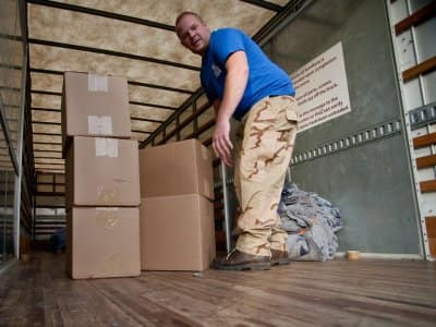Movers loading a truck