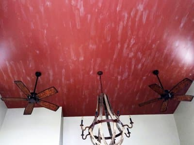 crackle paint technique on ceiling