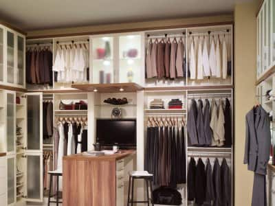 Ordinaire Custom Closet System With Shelving And A Desk