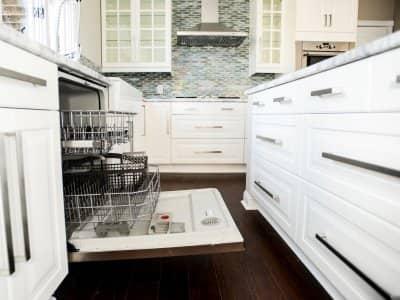 dishwasher in kitchen