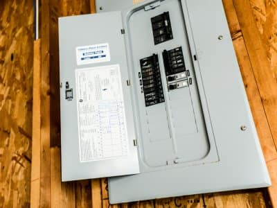 An electrical breaker box