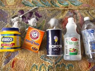 home cleaning supplies like baking soda