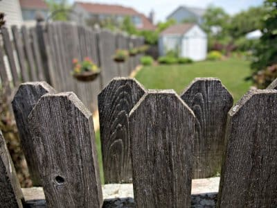 fence enclosing a yard