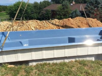 fiberglass saltwater swimming pool