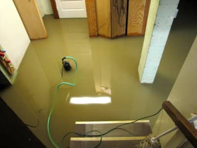 waterproof flooded basement