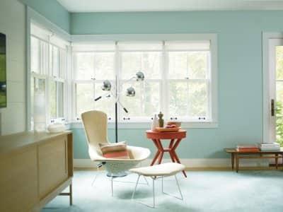 room painted wythe blue
