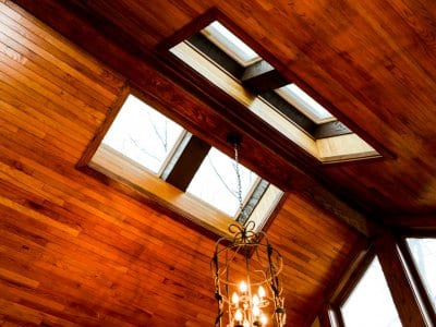 traditional home skylight on roof