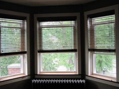 three storm windows in home