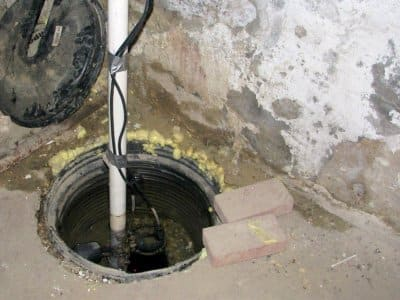 Sump pump and pipe