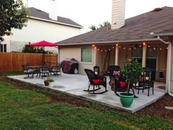 concrete patio