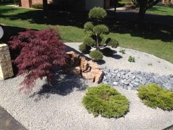 Landscaper Helps Create A Modern Zen Garden Oasis In Suburban Chicago.  Landscaper Helps Create A Modern Zen Garden ...