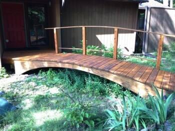 wood foot bridge