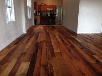 Awesome Kansas City Homeowner Installs Reclaimed Barn Wood Floors. Kansas City  Homeowner Installs Reclaimed Barn Wood Floors