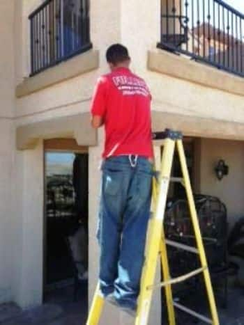 Misting System Cools Vegas Area Patio Workout Space