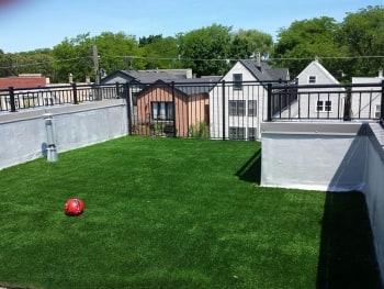 Rooftop deck artifical grass Chicago