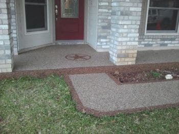 Contractor Adds Decorative Concrete Overlay To Live Oak Driveway.  Contractor Adds Decorative Concrete Overlay ...