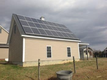 solar panels on barn