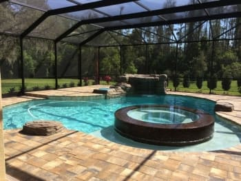 trinity pool designer gives homeowner an outdoor retreat