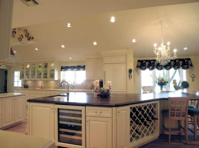 Great Kitchen Island With Built In Wine Rack And Wine Fridge