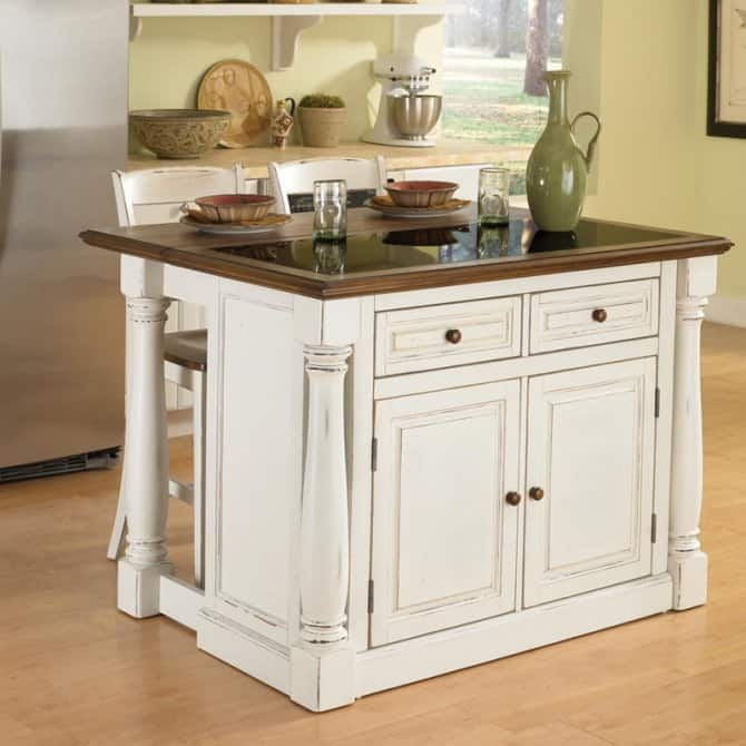 Swell Shabby Chic Movable Kitchen Island Angies List Interior Design Ideas Lukepblogthenellocom