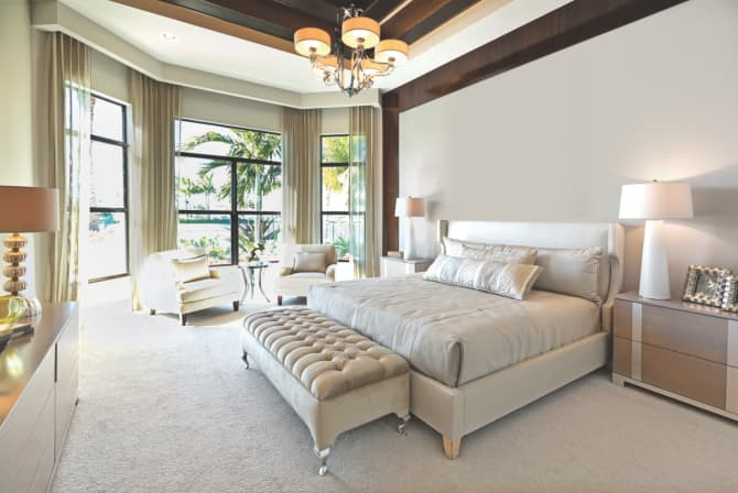 Master Bedroom With Tall Windows and Sitting Area | Angie\'s List