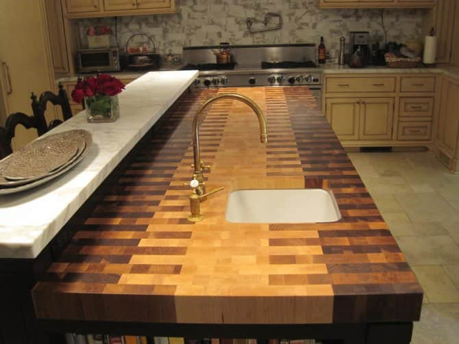 Interlocked Butcher Block Countertop