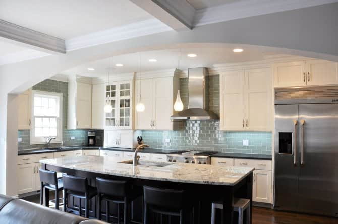 black kitchen island paired with white cabinets angie s list