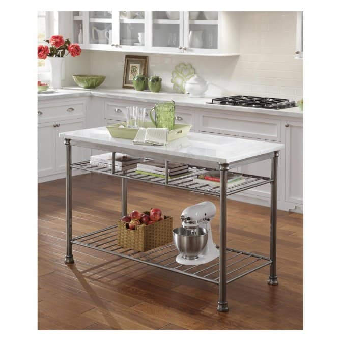 Wire Rack Mobile Kitchen Island | Angie\'s List