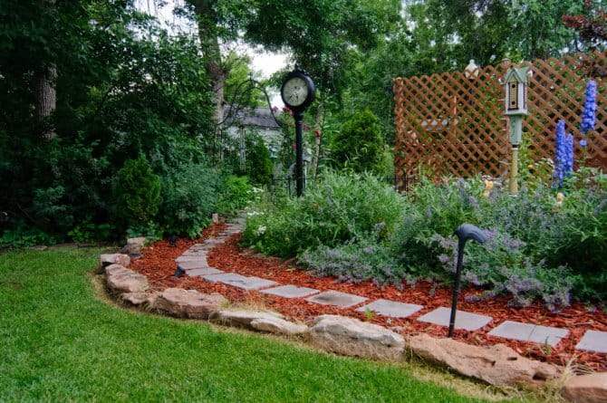 Flower Bed With Paver Path Angies List