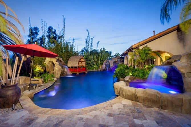 Bali Style Pool With Tropical Landscape Angie S List