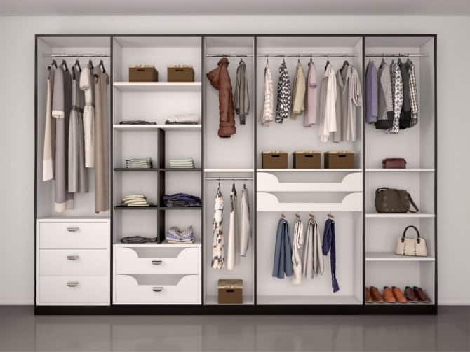 Open Closet Modern Bedroom Storage