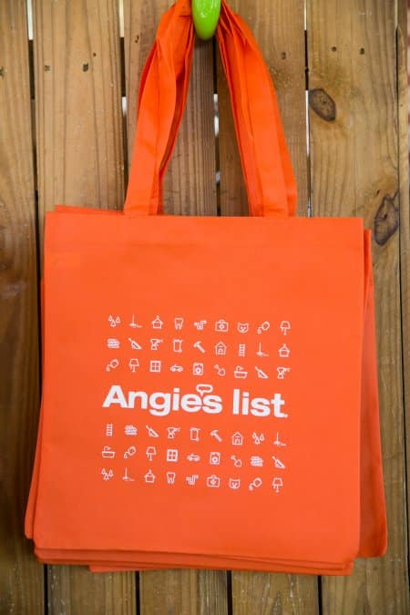reusable Angie's List tote bag